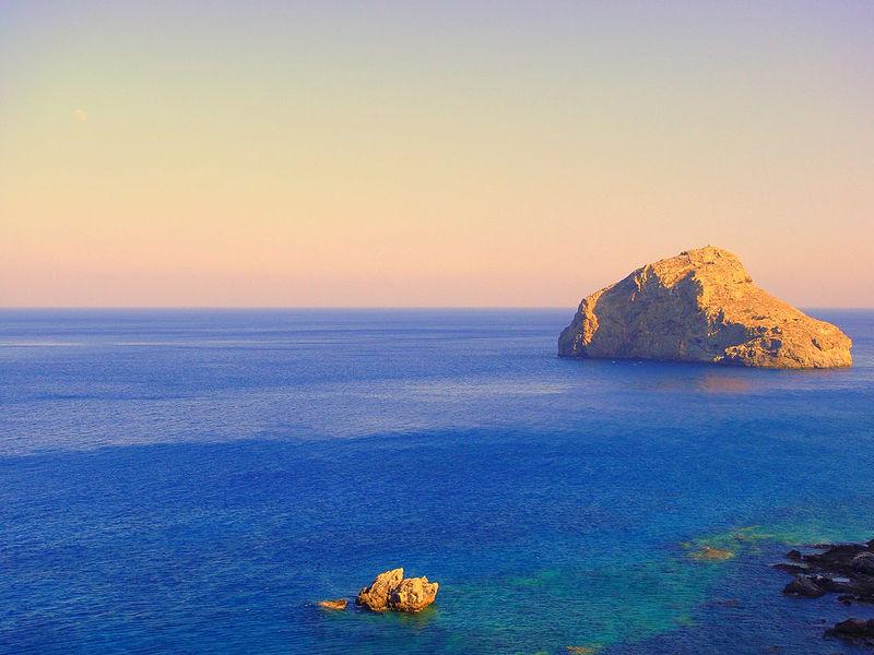 Mediterranean from Amorgos Greece